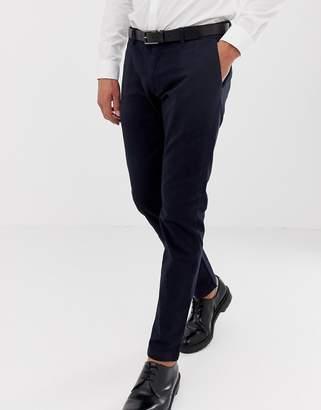 Esprit slim fit smart pants in navy