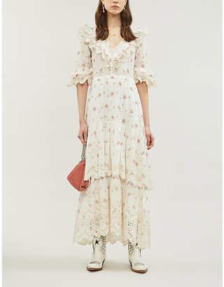 LoveShackFancy Juliette rose-print cotton maxi dress