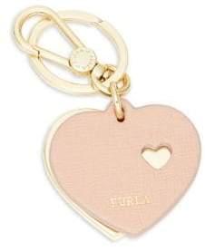 Furla Heart Leather Keychain