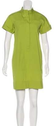 Lafayette 148 Collarless Shirt Dress