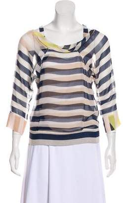 Diane von Furstenberg Helmina Silk Striped Blouse