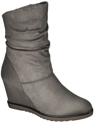 Merona Women's Kalea Slouch Shaft Wedge Ankle Boot