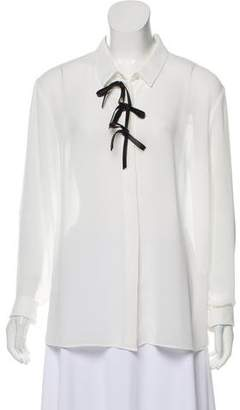 Sonia Rykiel Sonia by Bows-Accented Button-Up Top