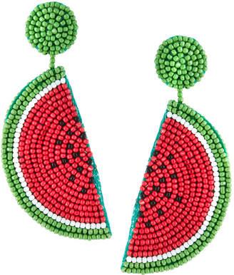 Kenneth Jay Lane Watermelon Seed Bead Earrings