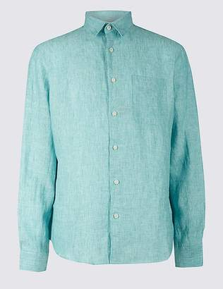 Marks and Spencer Pure Linen Shirt with Pocket