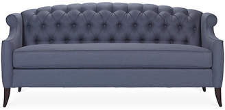 Kristin Drohan Collection Coco Tufted Sofa - Steel Blue Linen