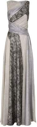 Talbot Runhof Metallic Colour Block Gown