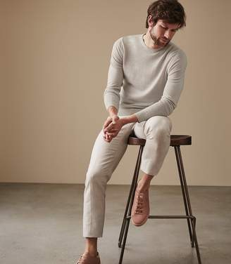 Reiss ORDER BY MIDNIGHT DEC 15TH FOR CHRISTMAS DELIVERY GRAYSON LINEN BLEND CREW NECK JUMPER Stone