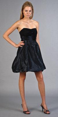 Black Bubble Taffeta Dresses by Nell Couture