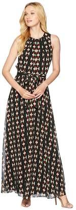 Calvin Klein Sleeveless Maxi w/ Tie Waist Women's Dress
