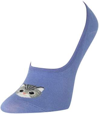 Hot Sox Women's Just Kitten Liner Socks