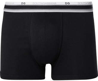 Dolce & Gabbana Ribbed Stretch-Cotton Boxer Briefs