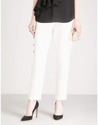 Alexander McQueen Straight cropped crepe trousers