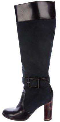 Stella McCartney Canvas Knee-High Boots