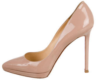 Christian Louboutin Pointed-Toe Platform Pumps $515 thestylecure.com
