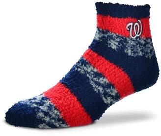For Bare Feet Women's Washington Nationals Pro Stripe Sleep Socks