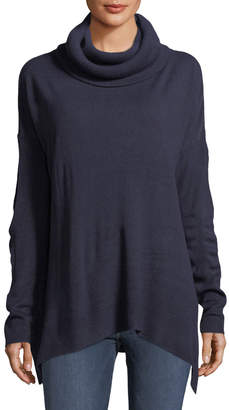 Sweet Romeo Cowl-Neck Tunic Sweater
