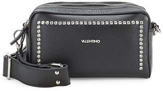Valentino by Mario Valentino Women's Mila Rhinestone Leather Crossbody