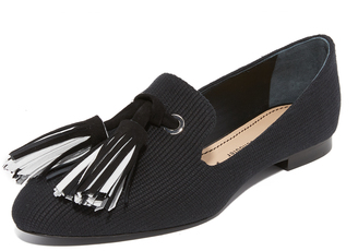 Proenza Schouler Smoking Slippers with Tassels $630 thestylecure.com