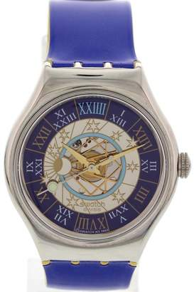 Swatch 00123 Moon Phase Dial Platinum Automatic Mens Watch