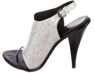 Rebecca Minkoff Barista Holographic Sandals