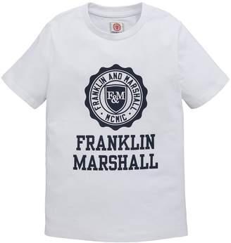 Franklin & Marshall Boys Crest Logo Short Sleeve T-shirt