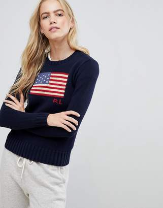 Polo Ralph Lauren Flag Logo Jumper