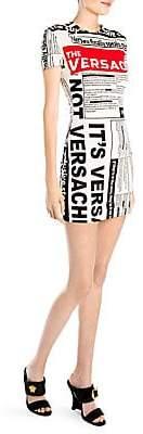 Versace Women's Short-Sleeve News Bodycon Dress