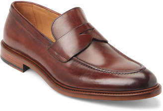 Antonio Maurizi Dark Brown Leather Penny Loafers