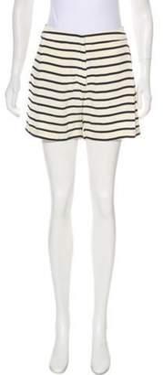 Sophie Hulme Striped Mini Shorts blue Striped Mini Shorts