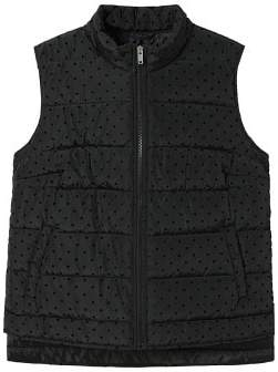 Violeta BY MANGO Polka-dot quilted gilet