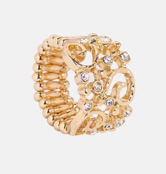 Avenue Gold Rhinestone Filigree Ring