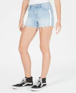 Tinseltown Juniors' Side-Striped Denim Shorts