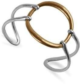 Lucky Brand Malibu Glamping Modern Circle Two-Tone Cuff Bracelet