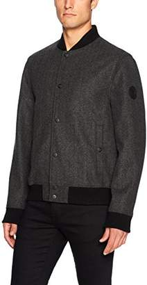 Buffalo David Bitton by David Bitton Men's Wool Herringbone Bomber Jacket