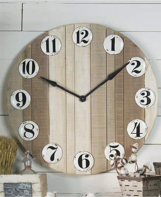 Vip Home & Garden Round Wood Clock