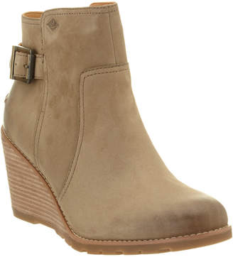 Sperry Women's Gold Cup Liberty Leather Wedge Ankle Bootie