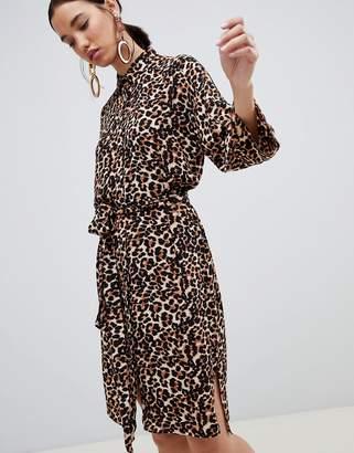 InWear Subira Leopard Print Shirt Dress