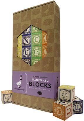 Uncle Goose Spanish ABC Blocks