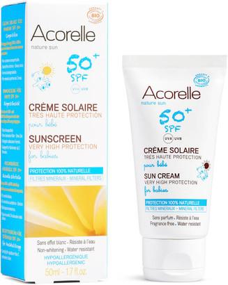 Acorelle Babies Organic SPF50+ Sunscreen - 3 Months and Up 50ml