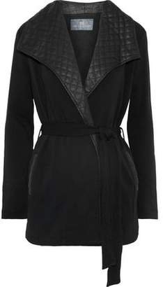 Tart Collections Frederica Quilted Faux Leather-Trimmed Stretch-Knit Jacket