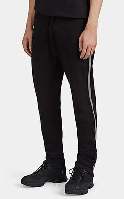 James Perse Men's Striped Cotton-Blend Drawstring Sweatpants - Black