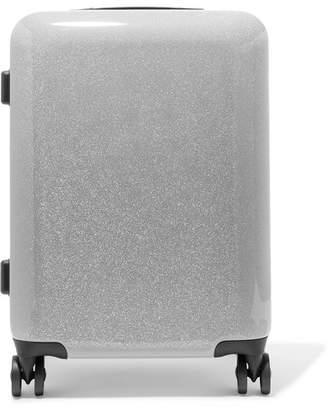 CalPak Medora Carry-on Glittered Hardshell Suitcase - Silver