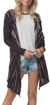 Women's Rip Curl Blackbird Stripe Hooded Cardigan $69.50 thestylecure.com