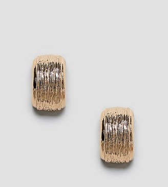 Reclaimed Vintage Inspired Textured Chunky Hoop Earrings
