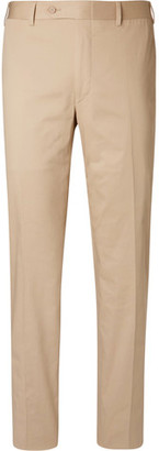 Canali Beige Sienna Stretch-cotton Twill Suit Trousers
