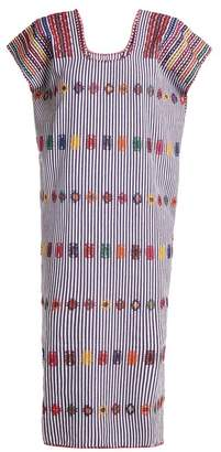 Pippa Holt - No.73 Embroidered Cotton Kaftan - Womens - Purple Stripe