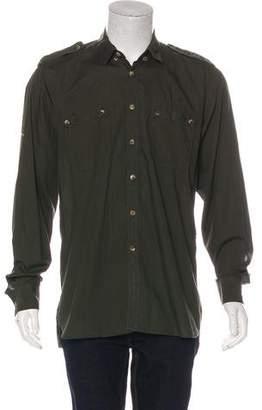 Lanvin Woven Military Shirt