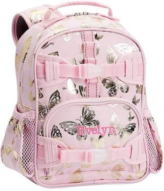Pottery Barn Kids Mackenzie Pink/Gold Foil Butterflies Lunch Bags