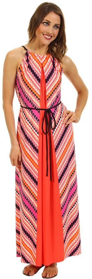 Maggy London Striped MJ Maxi Dress (Begonia) - Apparel